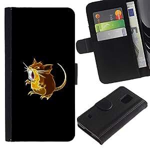 JackGot ( Hamster Pekemon ) Samsung Galaxy S5 V SM-G900 la tarjeta de Crédito Slots PU Funda de cuero Monedero caso cubierta de piel