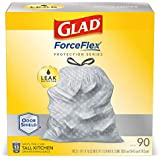 Glad® Tall Kitchen Protection Series Drawstring Trash Bags -13 Gallon Grey Trash Bag - 90 Count (Package May Vary)