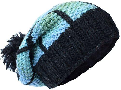 Beanie de Poco punto forro Katmandú polar con de parche C multicolor de Sombreros lana xzqwSz0gH