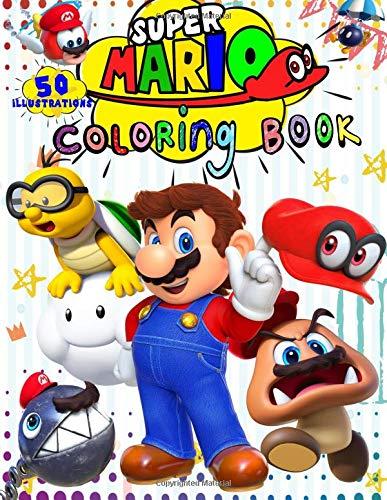 Super Mario Coloring Book: 50 - Illustrations