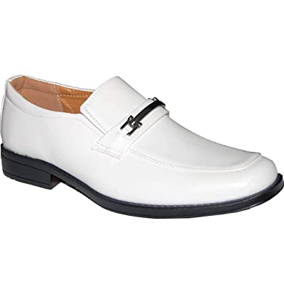 Krazy Shoe Artists Success White Men's Dress Shoes, | Loafers & Slip-Ons