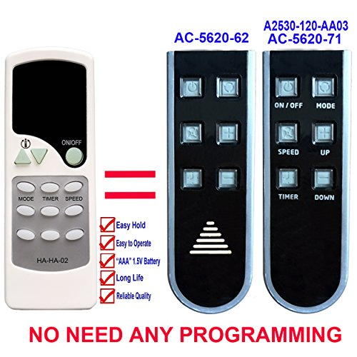 Commercial cool the best amazon price in savemoney ha ha 02 replacement for haier commercial cool air conditioner remote control ac fandeluxe Images