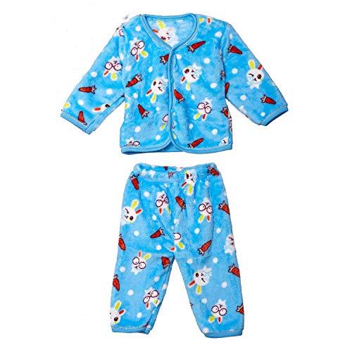 BLUE C New Born Woollen Winter Wear (0-3 Months, Sky Blue) Complete Clothes Set of 5 Pcs