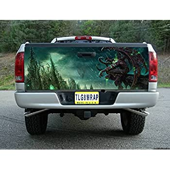T27 devil demon tailgate wrap vinyl graphic decal sticker f150 f250 f350 ram silverado sierra tundra