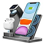 Aluminum Alloy Wireless Charging Stand ZIKU 3 in 1 Wireless Charger Fast Charging Dock Station for Airpods Pro Apple…