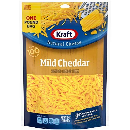 Kraft Shredded Mild Cheddar Cheese, 16 oz Bag