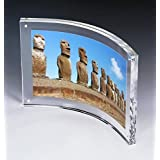 """8.5x11"""" Deluxe Curved Picture Photo Frames,Curved Sign Holder with Magnetic for Diploma,Certificate or Plaque"""