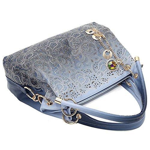 Vincico Al Bolso Para Sintético Azul Material Hombro De Mujer q5qx7wfrn