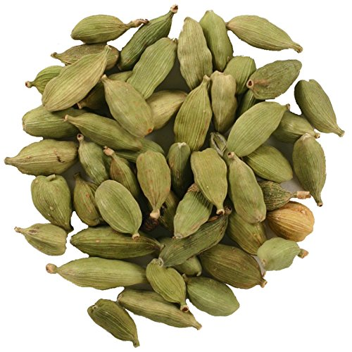 Front line Co-op Organic Green Cardamom Seeds, Whole, 1 Pound Bulk Bag
