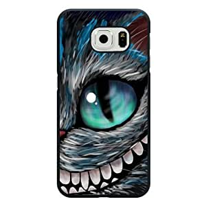 Caitin Disney Alice in Wonderland We're all mad here Cheshire Cat Cell Phone Cases Cover for Samsung Galaxy S6 (Laster Technology)
