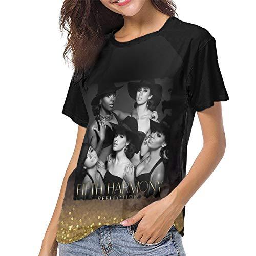 JosephG Fifth Harmony Reflection Womens Short Sleeve Raglan Baseball T-Shirts Black S
