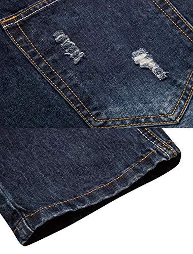 Azul Impresión Moda Keephen Ocio Jeans Hombre fXtqO
