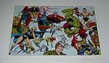 The Defenders 1970's Rare Vintage Original Marvel Comics Superhero 1978 Pin-Up Poster: Dr Strange/the Hulk/Valkyrie/Namor the Submariner/Daredevil/Silver Surfer/Luke Cage/Nighthawk/Moon Knight/Guardians of the Galaxy