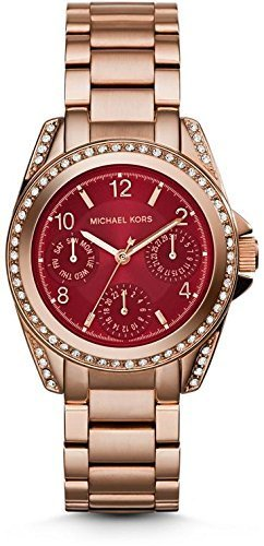Michael Kors Watches Mini Blair Chronograph Watch (Rose Gold) by Michael Kors