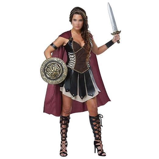 ZHANGCHANG Damas Traje de Halloween del Gladiador Espartano ...