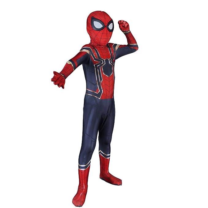 Amazon.com: Spiderman Cosplay Costume Child Adult Fancy ...
