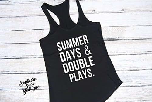 d8a8cda29449 Amazon.com  Summer Days   Double Plays Tank  Handmade