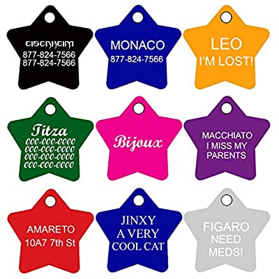 CNATTAGS Dog Tags Pet Tags Personalized | 11 Shapes | 8 Colors | Premium Aluminum from CNATTAGS LLC