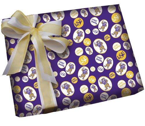 LSU Mike the Tiger Gift Wrap Roll