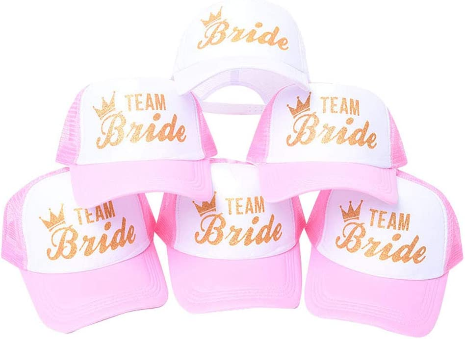 6 Pack Pink Team Bride...