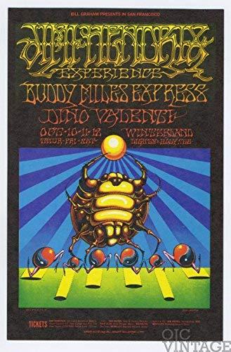 Bill Graham Postcard 140 Jimi Hendrix 1968 Oct 10