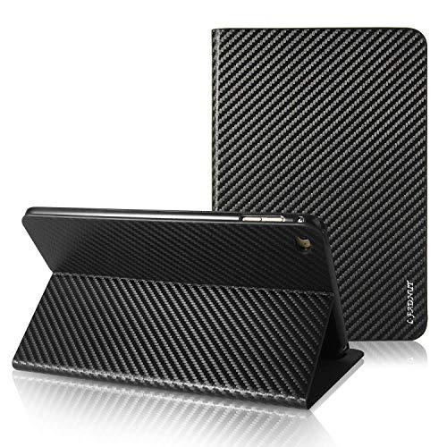 iPad Mini 1 Case,iPad Mini 2 Case,iPad Mini 3 Case,Premium Carbon Fiber Lines Flip PU Leather Case,Magnetic Closure with Auto Sleep Wake Feature Stand Wallet Card Slot Protective Cover for - Fiber Carbon Case Mini Ipad