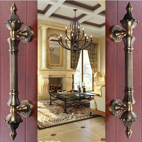 2 pcs Door shake handshandle european-style villa door shake handshandle archaize wooden door handle KD-8008-550