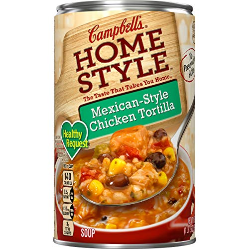 Southwest Chicken Style - Campbell's Homestyle Healthy Request Mexican-Style Chicken Tortilla Soup, 18.6 oz. (Pack of 12)