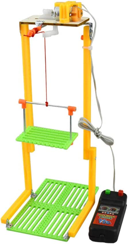TOYANDONA DIY Elevator Toy Remote Control Physical Equipment Crane Lifts Elevator Model Education Technology Small Production STEM Assembling Science Experiment Kit Without Battery