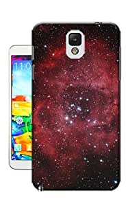 DIY Durable Case Cover Back Skin fit For Samsung Galaxy Note 3 At Sale Price Now ! (Diamond Red Starry Sky)