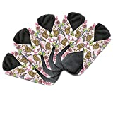 Dutchess Reusable Panty Liner for Light Bladder Leakage or Sanitary Pads for Light Menstrual Flow - Bamboo Quality 5 Pack Set - with Charcoal Absorbency Layer to Avoid Leaks, Odors and Staining