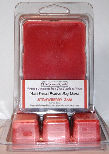 (2 Pack Scented Soy Wax Melts - Strawberry Jam by The Scented Castle)