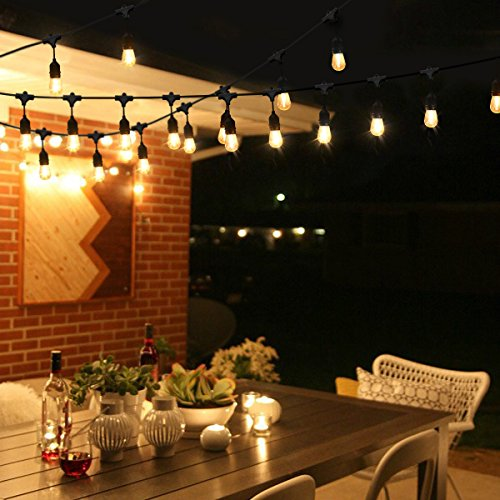 String Lights Qatar : Cymas String Lights Outdoor Weatherproof Commercial Light 33-Feet Garden Rope Lights with 10 ...