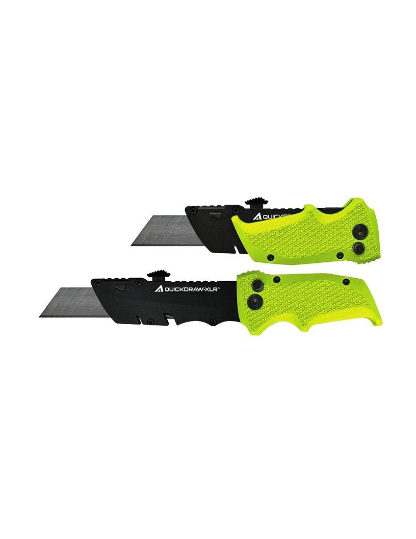 Prazi USA PR-1460 Quickdraw-XLR Longer Folding Utility Knife, Black/Green