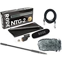 Rode NTG-2 Dual Powered Condenser Microphone w/Handheld Boom Pole, Rode Deadcat, and Mic Cable