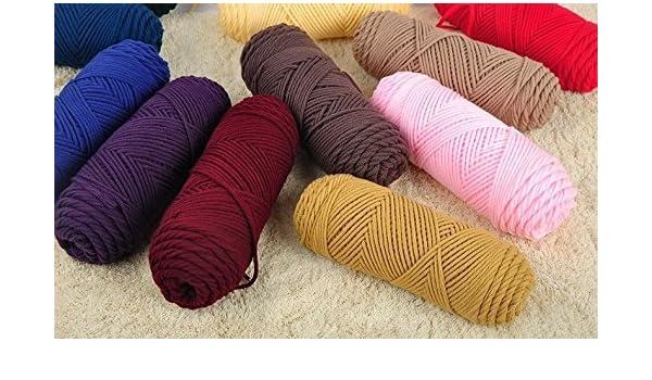 Amazoncom 100gpcs Natural Soft Silk Milk Cotton Yarn Thick Yarn