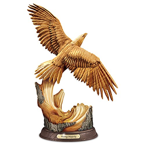 Eagle Sculpture Features Look and Detail of Hand-Carved Wood by The Bradford Exchange ()