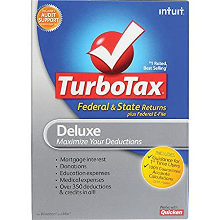 TurboTax 2012 Deluxe Federal AND E-File PLUS State for PC and MAC NEW