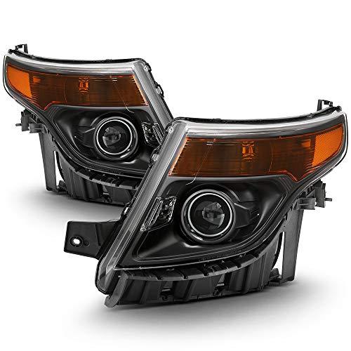 ACANII - For 2011 2012 2013 2014 2015 Ford Explorer Halogen Headlights Headlamps Driver + Passenger Side