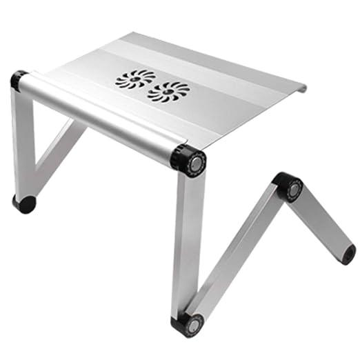 Mesa Plegable de Portátil,Mesa para Ordenador, Base Ajustable y ...