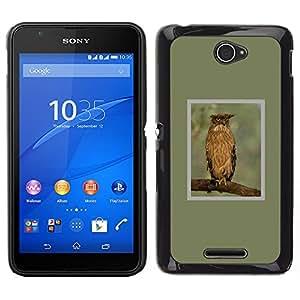 iBinBang / Funda Carcasa Cover Skin Case - Plumes de la Direction générale Ailes Printemps - Sony Xperia E4