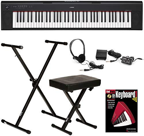 Yamaha Piaggero NP-32 Essential Keyboard Bundle - Black by Generic