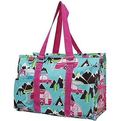 5b0d1627dba7 Happy Camper Print NGIL Large Zippered Caddy Organizer Tote Bag ...