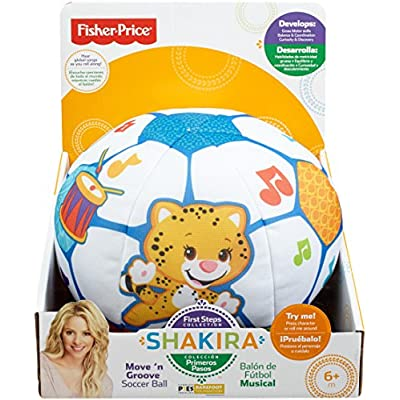 Fisher-Price First Steps Move 'n Groove Soccer Ball: Toys & Games