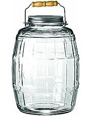 Anchor Hocking 2.5-Gallon Glass Barrel Jar with Brushed Aluminum Lid
