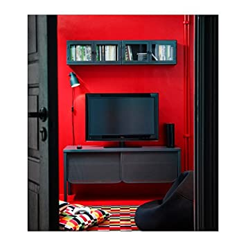 Genial NITTORP TV Unit, Dark Gray 2 IKEA Wall Cabinet, Dark Gray, Glass