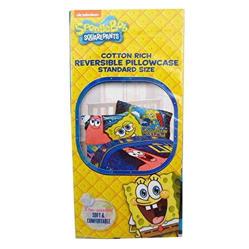 Nickelodeon SpongeBob SquarePants Cotton Rich Reversible Pillowcase, Standard Size