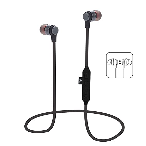 d96c279a70a Leagway Magnetic Wireless Earbuds With TF SD Card Slot, Bluetooth 4.2 In-Ear  Headphones Sport Earphones with Mic For iPhone X 8 7 Plus Samsung Galaxy S9  S8 ...
