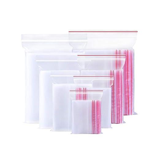 Hemore - Bolsas de plástico Transparentes con Cierre ...