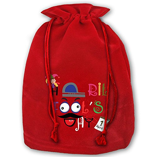 April Fools Who Fools You Red Christmas Drawstring Bags / Santa's Trouser Bag/ Christmas - Best Fools April Pranks Home
